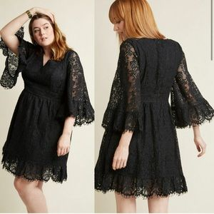 ModCloth Lace Bell-Sleeve Dress